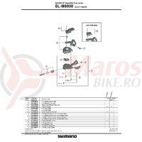 Capac maneta de schimbator Shimano SL-M8000 dreapta fara indicator