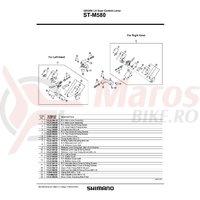 Capac maneta release Shimano ST-M580 & suruburi