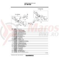 Capac maneta release Shimano ST-M760 dreapta & suruburi