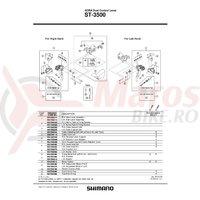Capac maneta Shimano ST-3500 stanga & suruburi de fixare