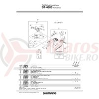 Capac maneta Shimano ST-4603 stanga & suruburi