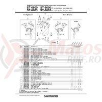 Capac maneta Shimano ST-6603-G stanga ice gray & suruburi de fixare