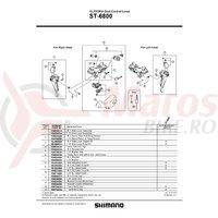 Capac maneta Shimano ST-6800 dreapta + suruburi