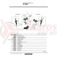 Capac maneta Shimano ST-9001 stanga & suruburi