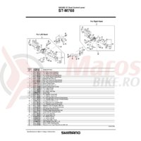 Capac maneta Shimano ST-M760 dreapta & suruburi