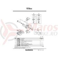 Capac pedale Shimano PD-M505 Negru