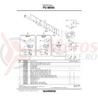 Capac pedale Shimano PD-M980 stanga & suruburi de fixare TORX/M5