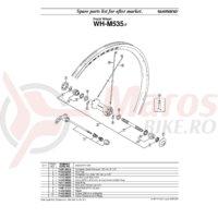 Capac pentru butuc Shimano WH-R535-F