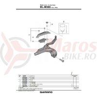 Capac rezervor Shimano BL-M365 stanga