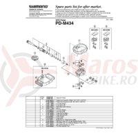 Capac Shimano PD-M434/PD-M424 stanga