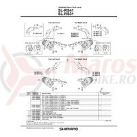 Capac stanga & suruburi de fixare pentru SL-RS41-LA Shimano