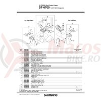 Capac superior fara mecanism Shimano ST-6700 dreapta & suruburi