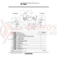 Capac superior Shimano ST-7900 stanga & suruburi