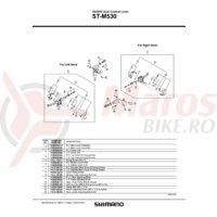 Capac superior Shimano ST-M530 dreapta & suruburi
