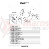 Capac superior Shimano ST-M585 stanga & suruburi