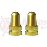 Capace ventil M-Wave aluminiu anodizat aurii