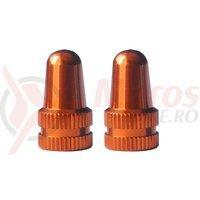Capace ventil M-Wave aluminiu anodizat orange