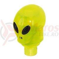 Capace ventil Ventura Alien Led verde doua bucati