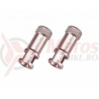Capacel Granite Juicy, alu CNC, pentru valva presta, cu functie suplimentara de extragere ventil presta (2buc) roz, AM