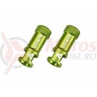 Capacel Granite Juicy, alu CNC, pentru valva presta, cu functie suplimentara de extragere ventil presta (2buc) verde, AM
