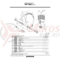 Capat butuc Shimano WH-7900