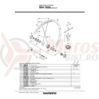 Capat etans Shimano WH-7850-F