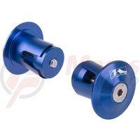 Capete ghidon M-wave 17.2-21 mm aluminiu albastre anodizat