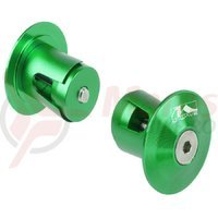 Capete ghidon M-wave 17.2-21 mm aluminiu verde anodizat