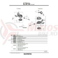 Carcasa Shimano pentru SL-M7100-11R r.h. & suruburi fixare