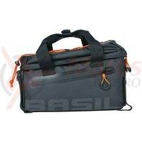 Geanta portbagaj spate Basil Miles Tarpaulin black/orange, 32x20x20.5cm