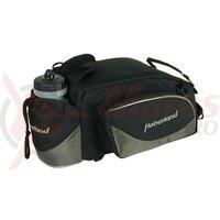 carrier bag Haberland Flexibag L black/grey, 39x16x25cm, 16ltrs, uni clip