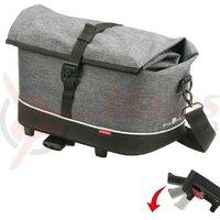 Carrier bag Rackpack KLICKfix tweed grey,38x21x25cm,approx.900g 0265UK