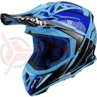 Casca Airoh Aviator 2.2 check blue gloss