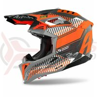 Casca Airoh Aviator 3 Wave Orange Chrome 2021 Carbon
