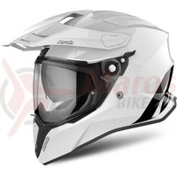 Casca Airoh Commander color white gloss