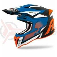Casca Airoh Strycker Axe Orange/Blue Matt