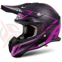 Casca Airoh Terminator 2.1 S Slim violet matt