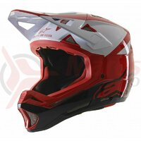 Casca Alpinestars Missile PRO Cosmos Red/White/Glossy