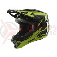 Casca Alpinestars Missile tech Airlift Black/yellow Fluo