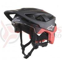 Casca Alpinestars Vector Pro Atom negru/rosu mat