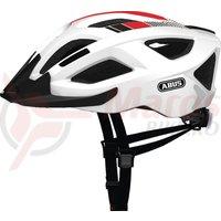 Casca bicicleta Abus Aduro 2.0 Urban race white