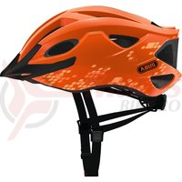 Casca bicicleta Abus S-Cension diamond orange