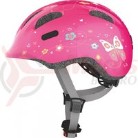 Casca bicicleta Abus Smiley 2.0 Butterfly roz
