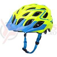 Casca bicicleta Kali Chakra Plus Reflex Fluo Yellow Blue 2020