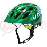 Casca bicicleta Kali Chakra youth pixel gloss green