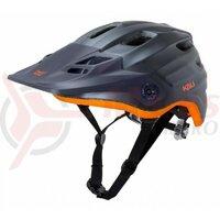 Casca bicicleta Kali Maya solid matte gunmetal orange