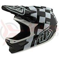Casca Bicicleta Troy Lee Designs D3 Fiberlite Raceshop White / Black 2020