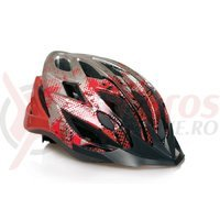 Casca Bikefun Shelter rosu/argintiu