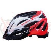 Casca Bikefun Vision rosu/negru/alb