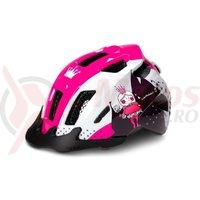 Casca ciclism copii Cube Helmet ANT alb/roz
